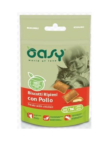 OASY SNACK CAT RIPIENI CON POLLO GR.60