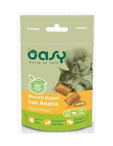 OASY SNACK CAT RIPIENI CON ANATRA GR.60